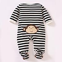 婴儿连体衣服宝宝新生儿哈衣0岁3个月棉衣6满月1春装春装
