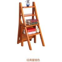 实木折叠楼梯椅人字梯楼梯凳家用全实木两用梯凳木梯子