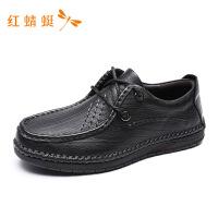 红蜻蜓男鞋男士真皮休闲鞋商务正装潮鞋子韩版男鞋皮鞋