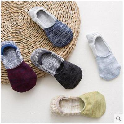袜子男士棉袜短袜子名族风复古隐形袜浅口短袜防臭袜日系条纹短袜