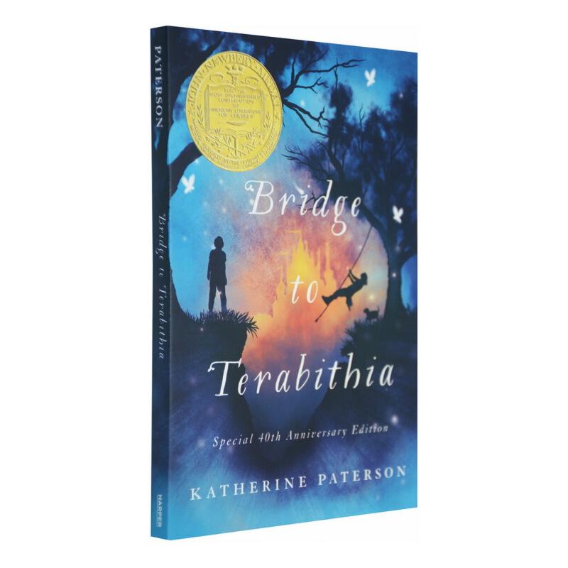 英文原版小说 Bridge to Terabithia 仙境之桥电影 通往特雷比西亚的桥 纽伯瑞金奖 儿童课外阅读