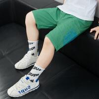 男童夏装短裤中大童薄款五分工装裤子外穿男孩休闲中裤