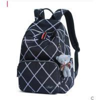 双肩包女韩版校园大学生森系书包简约高中学生大容量休闲帆布背包