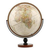 博目地球仪:30cm中英文政区复古立体地球仪(万向底座)