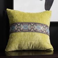 新中式中国风抱枕客厅皮沙发靠垫大靠背样板房正方形靠枕套不含芯