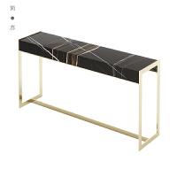 后现代简约不锈钢长方形玄关桌样板房客厅玄关柜港式轻奢家具定制 玄关桌 整装