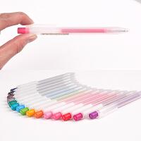 无印良品文具笔顺滑按压中性笔软握�ㄠ�笔中性水笔 16色可选