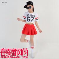 儿童舞蹈演出服女孩啦啦队服装小学生运动服女童啦啦操比赛演出服