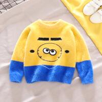 男童毛衣套头潮韩版宝宝针织衫小童毛衣秋冬款儿童线衫