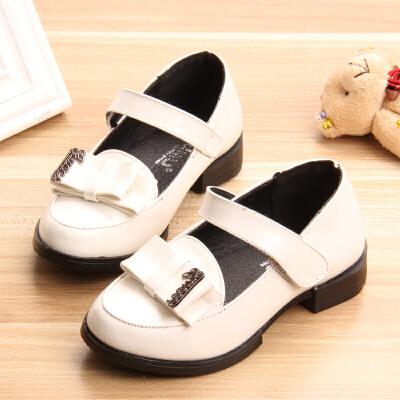 春秋儿童鞋子中大童女童皮鞋公主鞋宝宝方口鞋小女孩单鞋