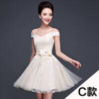 伴娘团礼服短款姐妹裙小礼服2016新款秋冬韩版修身新娘结婚伴娘服