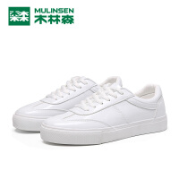 木林森新款女鞋小白鞋时尚百搭平底学生板鞋韩版潮流舒适单鞋