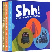 SHH! We Have a Plan 偷偷告诉你 克里斯霍顿 英文原版绘本纸板书3册全套装 嘘我们有个计划/小小迷路了/别这样,小乖!