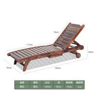 碳化木休闲躺椅实木折叠台靠椅午休睡逍遥椅户外沙滩凉椅子 方木 躺椅