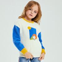 小猪班纳童装女童毛衣秋冬2020新款儿童长袖针织衫休闲套头线衫