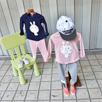 宝宝T恤春季 纯棉儿童长袖上衣童装新款2018 女童打底衫百搭春装