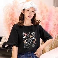 夏装短袖T恤女韩版衣服 2018新款学生宽松上衣 女装