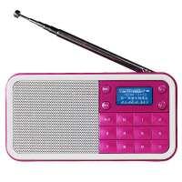 熊猫/PANDA DS-186 数码小音箱数字点歌机插卡便携迷你收音机音响 红色