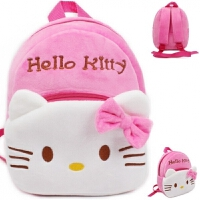 韩版可爱婴儿背包双肩包1-3岁2女孩包包洋娃娃幼儿园女宝宝书包 小号升级款KT猫 23*20*9cm