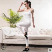 性感吊带拼接连体空中瑜伽形体服专业瑜珈服瑜伽服女紧身一体式带胸垫