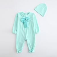 婴儿连体衣服棉宝宝新生儿哈衣春装冬季睡衣03个月1岁新年