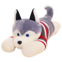 哈士奇公仔毛绒玩具狗狗熊可爱玩偶布娃娃女生睡觉抱枕送女友女孩