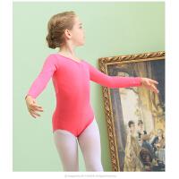 儿童舞蹈服装长袖 少儿连体服练功服幼儿芭蕾舞裙女童