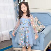 公主裙女童 蓬蓬纱夏季连衣裙2018新款儿童裙子小女孩蕾丝纱裙