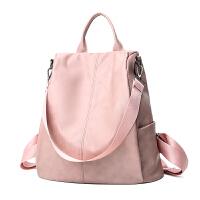双肩包女新款韩版百搭软皮包包旅行包休闲女士书包防盗背包潮