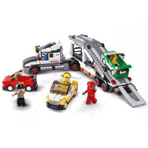 【当当自营】小鲁班模拟城市系列儿童益智拼装积木玩具 赛道运输车M38-B0339