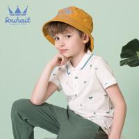 souhait水孩儿童装儿童夏季儿童POLO衫男童T恤短袖T恤SHNXBD09CP605