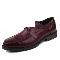 皮鞋男商务正装皮鞋男布洛克英伦雕花头男鞋韩版结婚鞋青年夜店发型师潮