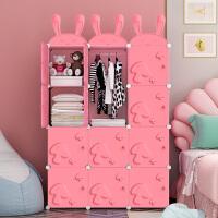 卡通衣柜简易塑料布收纳柜子组装简约现代经济型婴儿童宝宝小衣橱