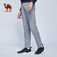 camel骆驼休闲舒适运动长裤 年新款 男款针织长裤