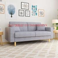 北欧布艺沙发小户型客厅双人三人一字型整装浅灰色网红 2米 1.8米 【5CM乳胶坐垫】深灰色 【塌了包换】 大三人+单人