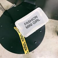 夏季小包包女2018新款潮个性透明单肩小方包韩版百搭斜挎包盒子包