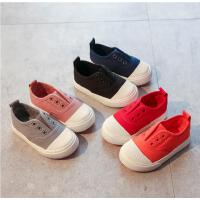 儿童帆布鞋男童鞋女童宝宝秋鞋小白鞋低帮帆布鞋