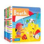 英文原版 Busy Books 忙碌系列4本套装 幼儿启蒙认知趣味机关书 玩具书 纸板书 操作书BUSY BOOK S