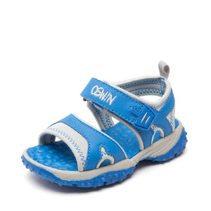 SHOEBOX/鞋柜 童鞋魔术贴学步鞋 露趾防滑沙滩鞋凉鞋