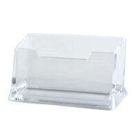 齐心B2169 桌面收纳整理夹名片夹 易查找名片座 单格名片盒