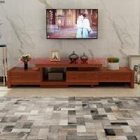 实木电视柜茶几组合套装家具现代简约小户型客厅简易中式电视机柜 组装