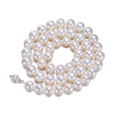 梦 梵雅 灵心天然淡水珍珠项链9-10mm淡水珍珠近圆形微瑕光泽好