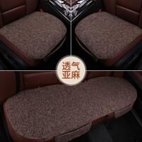 汽车坐垫四季通用亚麻单片三件套后排垫子单个屁屁垫棉麻夏季座垫