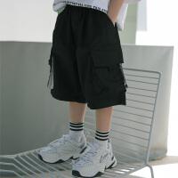 儿童装夏装裤子男童工装短裤外穿夏季薄款中裤七分裤