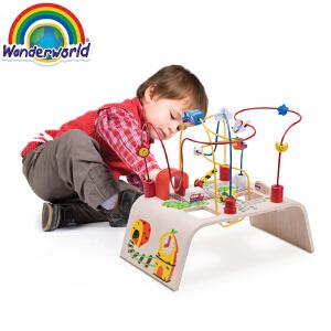 [当当自营]泰国Wonderworld 绕珠-城市系列 创意益智串珠绕珠 木制玩具