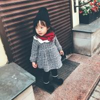 定制女童秋装加绒格子连衣裙秋冬儿童女宝宝女孩裙子公主裙