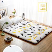 榻榻米床垫地垫可折叠打地铺睡垫懒人床薄款简易地上铺地睡觉垫子d 幸运星 肤、防滑面料