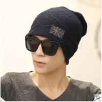 男士帽子韩版潮毛线帽加厚针织帽套头帽包头帽男帽保暖帽