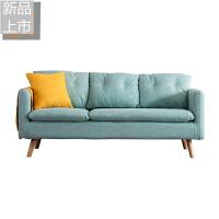 小户型现代简约单人双人三人沙发客厅可拆洗北欧服装店布艺沙发定制