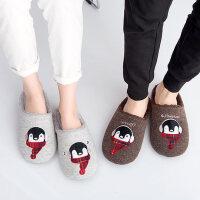女士防滑保暖拖鞋 男居家室内棉拖鞋 日式卡通毛毛情侣棉鞋 新款男女拖鞋
